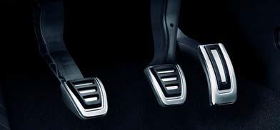 Edelstahl Pedal-Blenden für Fahrzeuge mit Schaltgetriebe