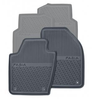 Gummifußmatten-Set vorne (2-teilig schwarz)