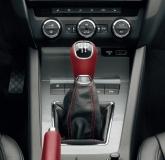 Lederschaltknauf aus Leder, rot für 5-Gang Schaltgetriebe Rapid