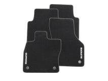 Textilfußmatten-Set Premium mit grauer Umrandung