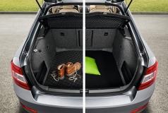Kofferraumwendematte Gummi/Textil für Yeti mit doppeltem Ladeboden / mit Stahlreservenotrad