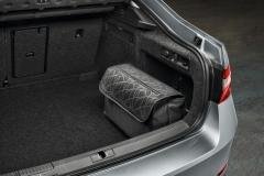 Kofferraumtasche grau mit Musterung