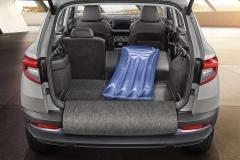 Kofferraumwendematte Gummi/Textil ausfaltbar -für Fzg. mit Rücksitzlehne 60:40 und variablem Ladeboden