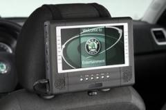 Mobiler DVD Player zur Montage an den Kopfstützen